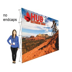 """15ft RPL Fabric Pop Up Display - 89""""h Straight Graphic Package"""