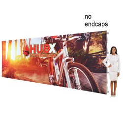 "20 ft. RPL Fabric Pop Up Display - 89""h Straight Graphic Package"