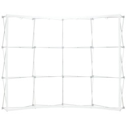 10 ft. Curved Ready Pop Fabric Trade Show Display - 8'h Large Single Sided Graphic Package