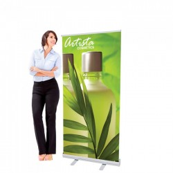 33.5 x 72 Economy Retractable Banner Stand & Graphic Print